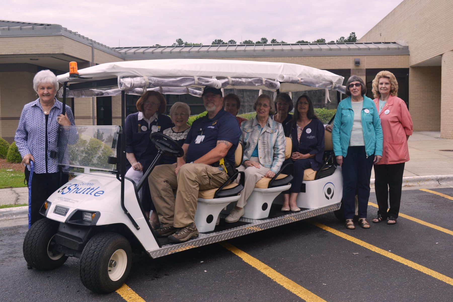 auxiliary-volunteers-with-courtesy-shuttle-at-CRHS
